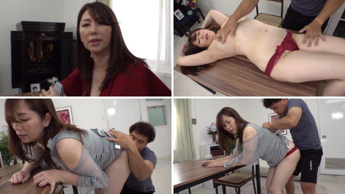 翔田千里新作  デカマラをお尻に押し付けられて興奮する豊満熟女